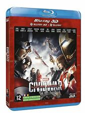 BLU RAY 3D + BLU RAY ** CAPTAIN AMERICA - CIVIL WAR ** NEUF