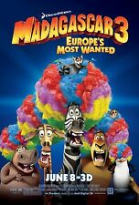 Madagascar 3 movie poster print : 11 x 17 inches (Wigs) Madagascar poster