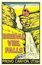 Bridal Veil Falls, UT   Utah   Vintage-Looking   Travel Decal/Sticker