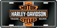 Harley Davidson Vintage Logo Embossed Metal Vanity Car License Plate Auto Tag
