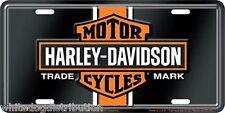 Harley Davidson Vintage Logo Embossed Metal Vanity Car License Plate Auto Tag