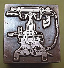 """OLD FASHIONED """"TELEPHONE""""PRINTING BLOCK."""