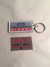 New FORD POWER STROKE DIESEL ACRYLIC KEYCHAIN Pickup Truck F250 F350