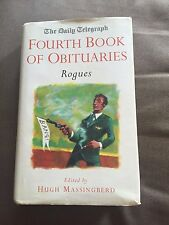 """1998 """"THE DAILY TELEGRAPH FOURTH BOOK OF ORBITUARIES - ROGUES"""" HARDBACK BOOK"""