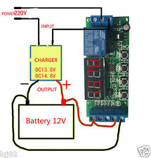 DC12v Automatic Battery Charger Charging Controller Protection Board LED Display