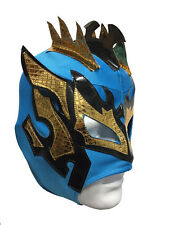 KALISTO-lucha Dragones-azul tamaño childs Lucha libre Máscara Niños Fancy Dress libre
