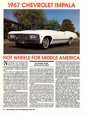 1967 CHEVROLET IMPALA 327/275 HP  ~  NICE 8-PAGE ARTICLE / AD