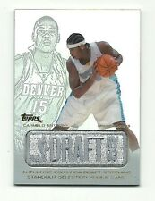 Carmelo Anthony 2004 Topps Standout Selection Draft Stitching Patch Rookie Card