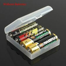 Rechargeable Battery Case Safe Storage Holder Clear Hard Plastic For 4x 14500 AA
