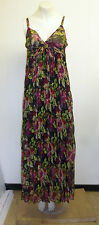 Gorgeous Strappy Floral Print Chiffon Pleated Lined Dress from Parisian, Size 10