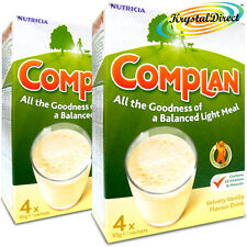 2x Nutricia Complan Vanilla Flavour Vitamin Mineral Energy Drink 4 Sachets