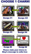 California Chrome Custom Italian Charm, Triple Crown! Horse Racing