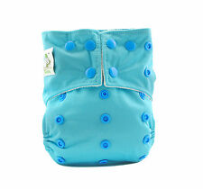 Coolababy One Size Bamboo Reusable Baby Cloth  Diaper + 1 insert  Blue atoll