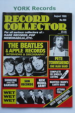 RECORD COLLECTOR MAGAZINE - Issue 108 August 1988 - Beatles / Pete Townsend