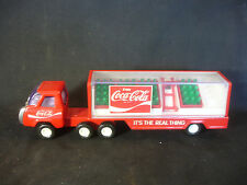 Red Pressed Steel Buddy L Coca Cola Toy Delivery Truck Trailer With Bottles