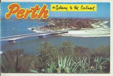 FOLD OUT VIEWS OF PERTH WESTERN AUSTRALIA  POSTCARD