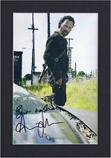 The Walking Dead Andrew Lincoln, Rick Signed Photo Mounted Preprint Size A4