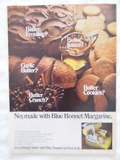 1969 Magazine Advertisement Page Featuring Blue Bonnet Margarine Butter Ad