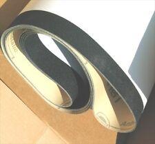 """6 Wide Sanding Belts 25"""" x 75 x 180 grit Hermes Sander grinder machine abrasives"""