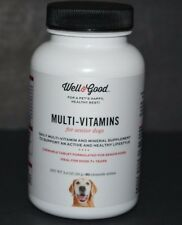 MULTI-VITAMINS FOR SENIOR DOGS, WELL & GOOD (60 CHEWABLE TABLETS) IDEAL FOR 7 YE