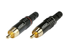 2x Hicon HI-CM06 HICM06 Cinchstecker vergoldet RCA Connectors gold plated