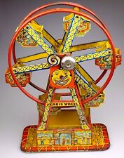 1950's J. Chein Co. Wind Up Tin Toy Litho Hercules Ferris Wheel USA