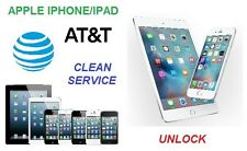 AT&T Apple iPhone 3G-3GS-4-4S-5-5C-5S-6-6+ Plus-6S-6S+ Plus SBLOCCO Unlock Clean