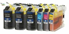 6PK Compatible Brother LC207 BK LC205C LC205M LC205Y Ink Cartridges 3BK,1C,1M,1Y