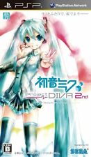 Used PSP Sega Hatsune Miku Project Diva 2nd Japan Import ((Free shipping))、、