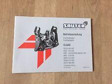 Sauter Betriebsanleitung Frontzapfwelle/Frontkraftheber für Claas Traktoren