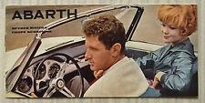 FIAT ABARTH SPYDER & Coupe auto BROCHURE DI VENDITA c1961 TESTO FRANCESE