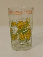 VINTAGE 1974 SYLVESTER TWEETY TWAT I TAW A PUDDY TAT JUICE PEANUT BUTTER GLASS