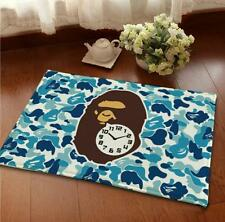 Bathing Ape Bath Door Mat Carpet Rug Soft Home Decor Non Slip blue Camouflage