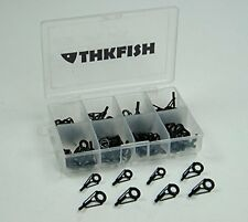 Black! 80x in Box Small Black Freshwater Fishing Rod Parts Tip Tops Black New