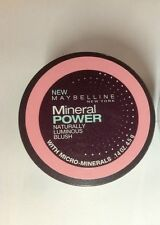 Maybelline Mineral Power Naturally Luminous Blush (SOFT MAUVE) NEW.