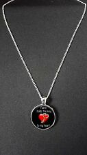 "Personalised Key To My Heart Pendant On 18"" Silver Plated Necklace Gift N532"
