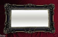 Wandspiegel Rechteckig Schwarz Gold Dual BAROCK WANDDEKO Antik Spiegel 96x57