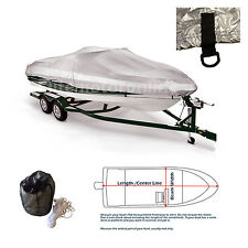 "V-Hull Tri-Hull Fishing Ski Storage Mooring Boat Cover fits 14' -16.5'L 90""Width"