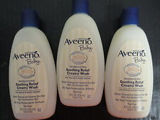 3 AVEENO BABY SOOTHING RELIEF CREAMY WASH - 8OZ - EXP: 5/17+ - RC 2459