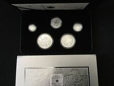 2004 Canada 5 Coin Fractional 9999 Silver Maple Leaf Privy Set
