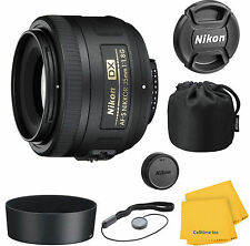 Nikon Nikkor 35 mm F/1.8 AS RF DX G SWM AF-S M/A Lens With Pouch and Hood Kit