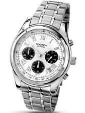 Sekonda 3417 Gents Quartz Analogue Stainless Steel Chronograph Watch RRP £89.99