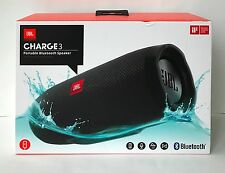 JBL Charge 3 BLACK Waterproof Portable Bluetooth Speaker BRAND NEW & SEALED