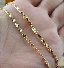 18K Gold Plated Thin Link Chain DIY Chain Necklace 20inch Men's Women Jewellery