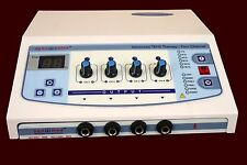Electrical Therapy Machine 4 Channel Electrotherapy  Pain Relief Therapy X !THeG