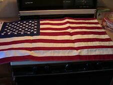 USA EMBROIDERED 2'x3' Cotton American Flag MADE IN U.S. *NEW*