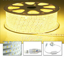 1 Meter Warm White LED Strip 220V 240V IP67 Waterproof 3528 Lights Rope Xmas