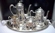 WONDERFUL ART NOUVEAU WMF Silverplate Coffee & Tea Set Floral Design PRISTINE!!!