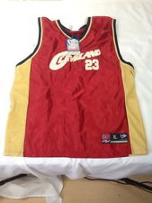St645 NBA Red And Gold Sleeveless Cleveland Cavaliers #23 Jersey XL Lebrun James