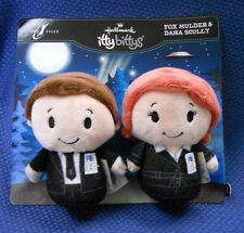 "SET OF 2 HALLMARK The X Files ITTY BITTYS PLUSH ~ ""FOX MULDER & DANA SCULLY'"""